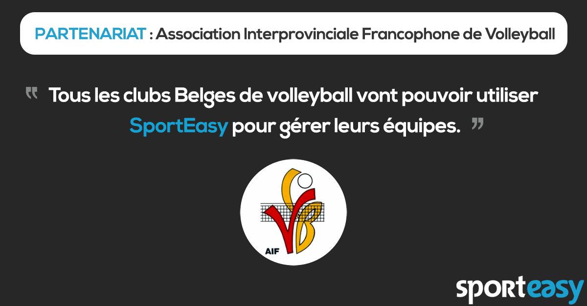 Partenariat - AIF Volley - SportEasy